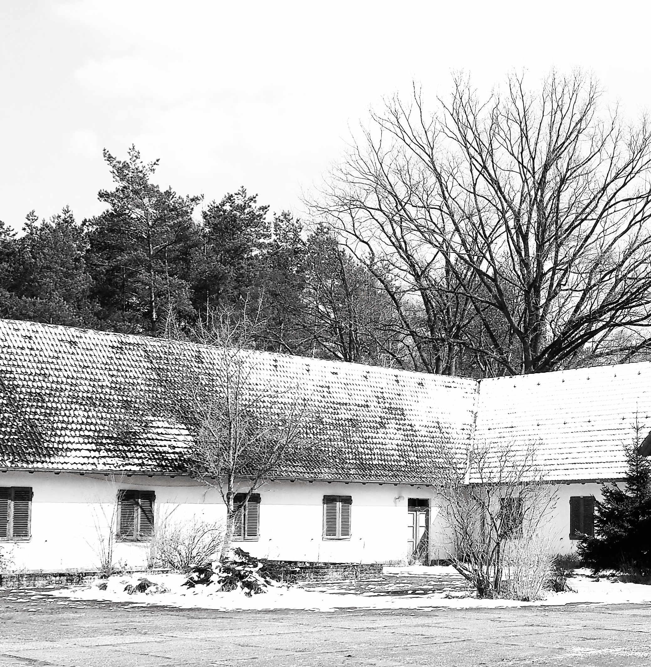 Ein Seitenflügel der Villa Bogensee
