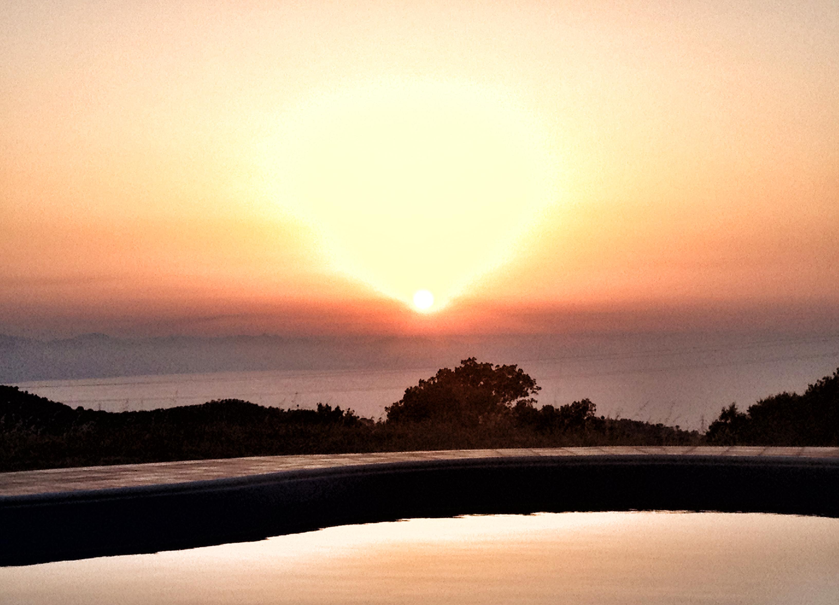 Sizilien Ausblick Pool Ionisches Meer Italien Urlaub