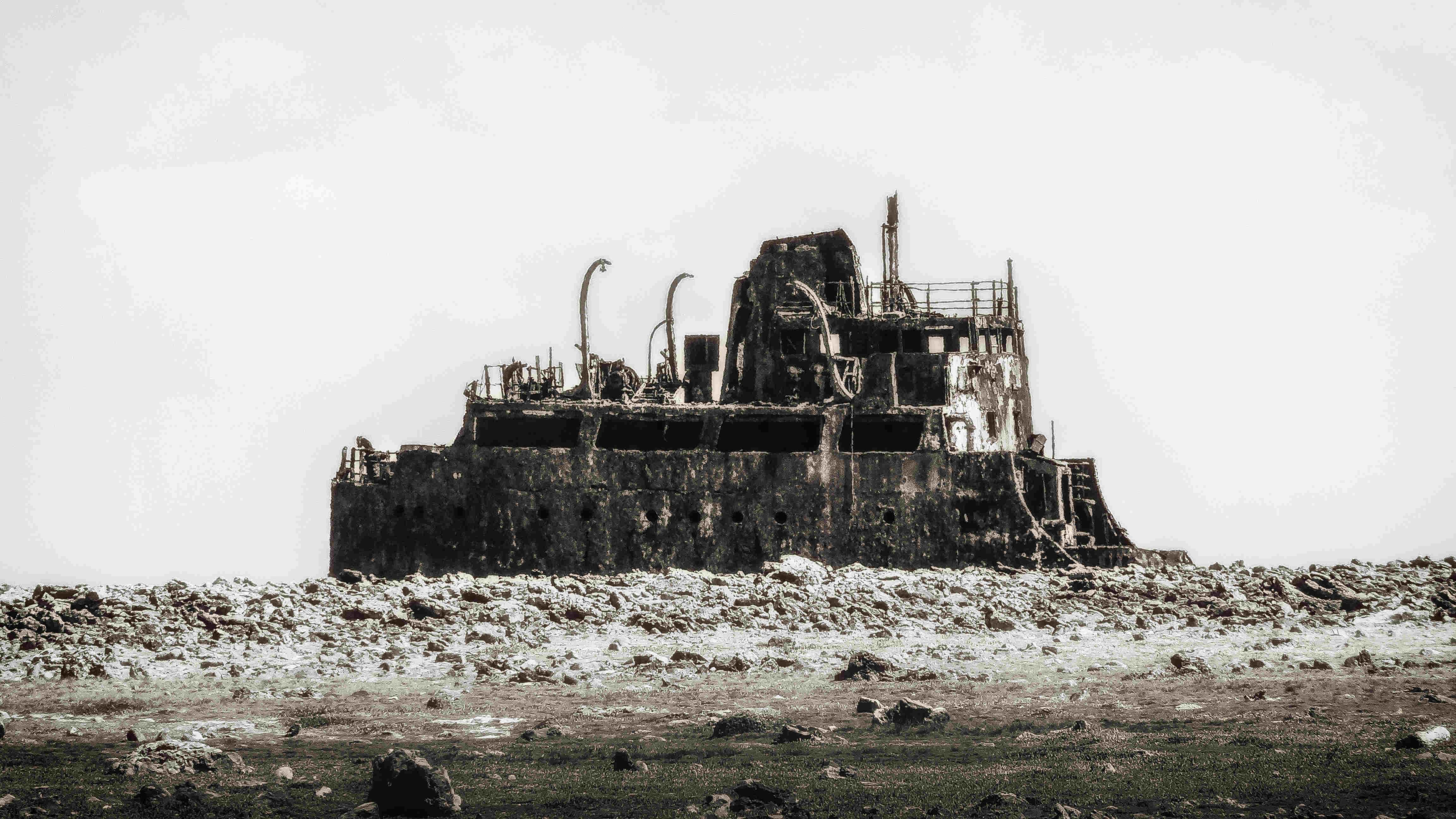 curacao-schiffswrack-ruine-lost places raffenerie shell konzern
