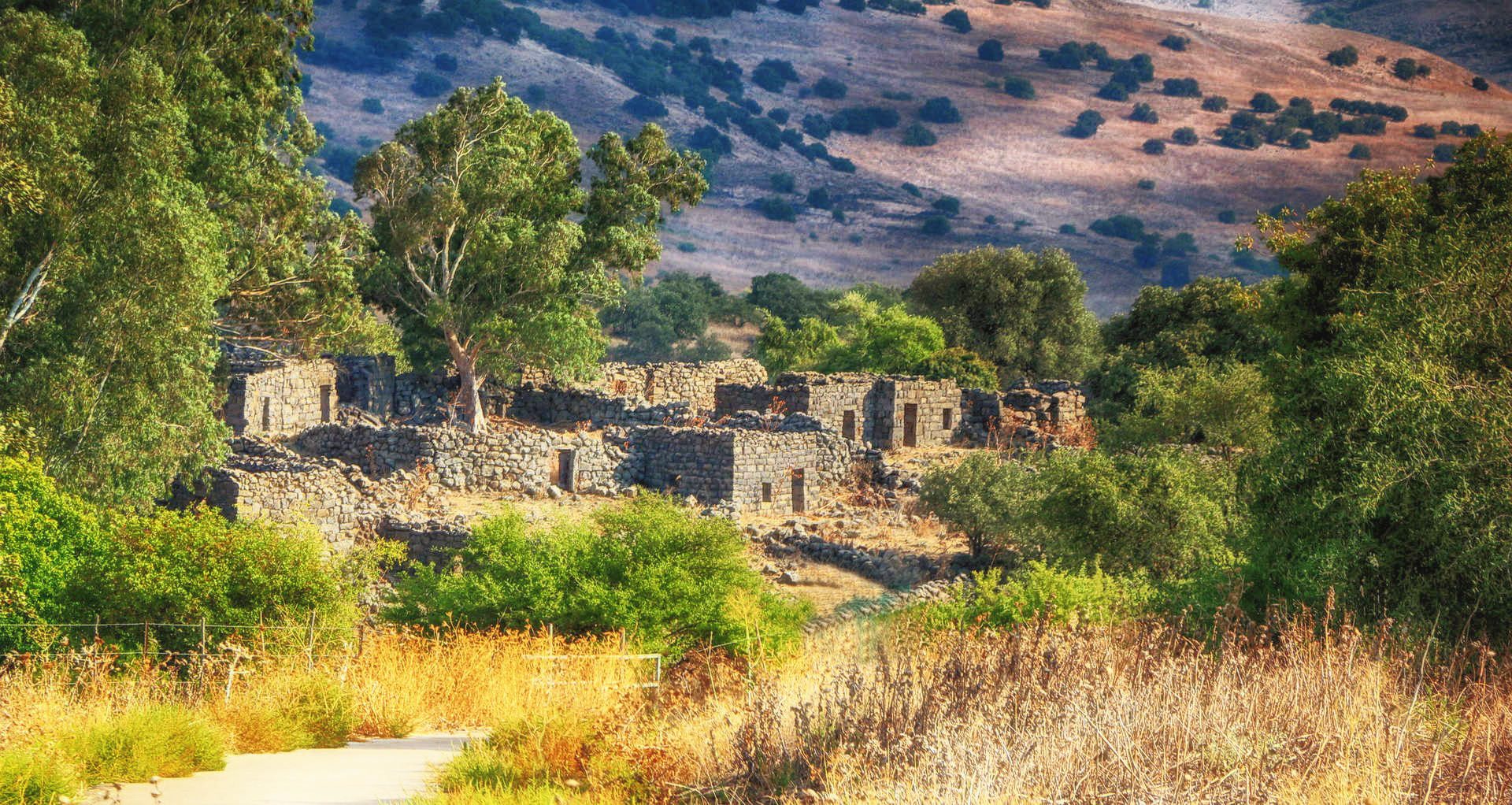 Israel Tipps Rundreise Geisterstadt Yahudia im Golan