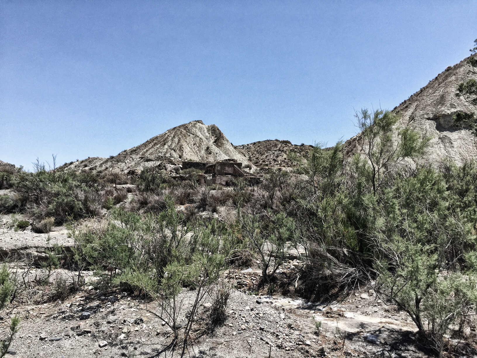 andalusien - Ruine in der Desierto de Tabernas