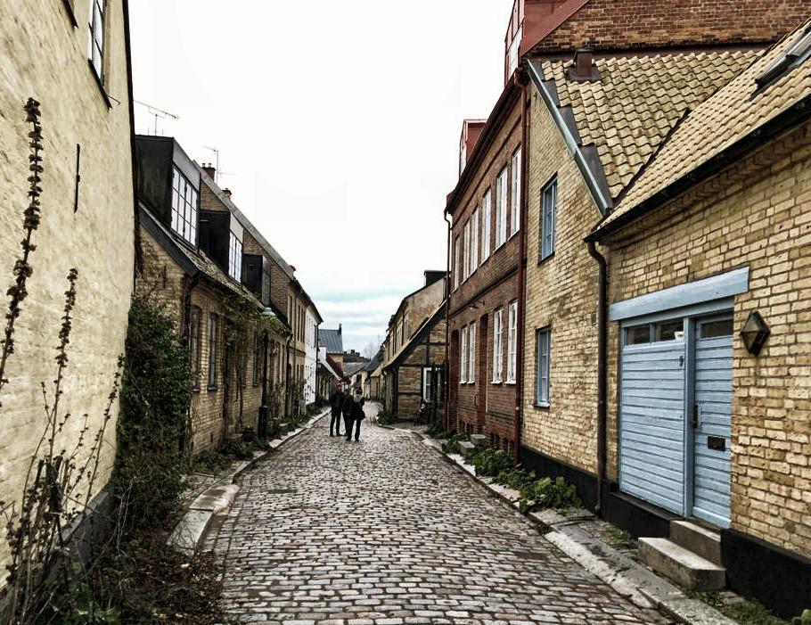 Die Altstadt von Lund am Heiligabend - fast leergefegt.